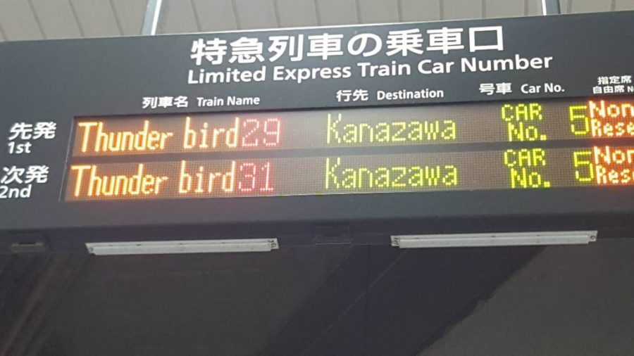 Japanese train station signs