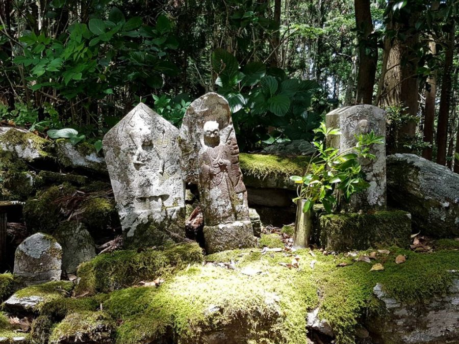 Shrines carved in stone on the Shikoku trail