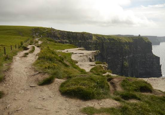 Paths along the Cliffs of Moher