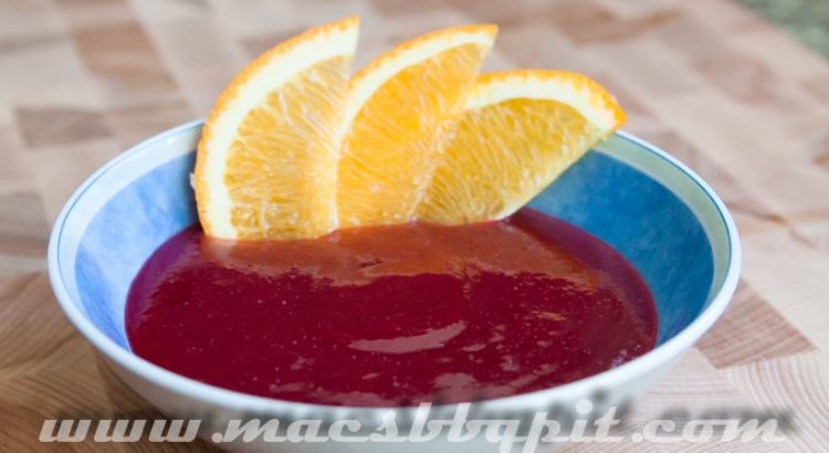 Cranberry coulis
