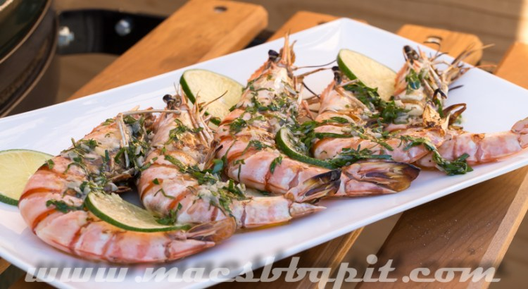 Grilled Black Tiger Prawns