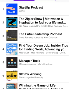 The itunes careers podcast   chart and remained in top for most of eight weeks also how to break into an stay there rh prichardcommunications