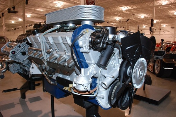 Cadillac V12 left front low view