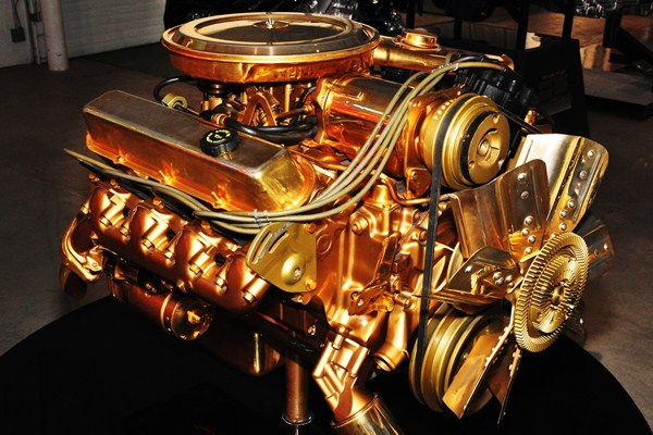 Gold-plated Cadillac 500 CID V8