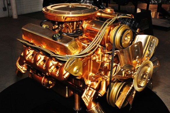 Gold-plated Cadillac 500 CID V8