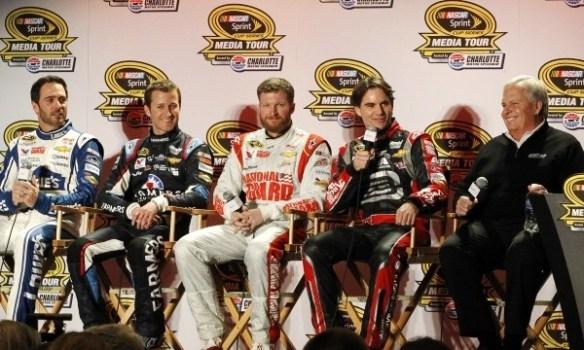 Rick Hendrick and drivers