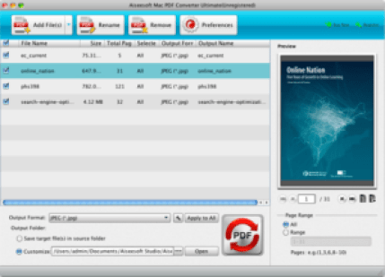 Aiseesoft PDF Converter mac