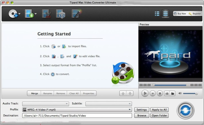 Tipard Mac Video Converter Ultimate mac