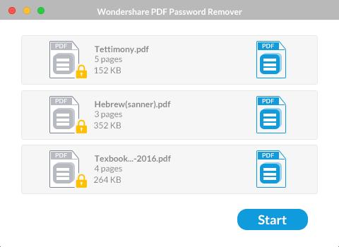 Wondershare PDF Password Remover Mac