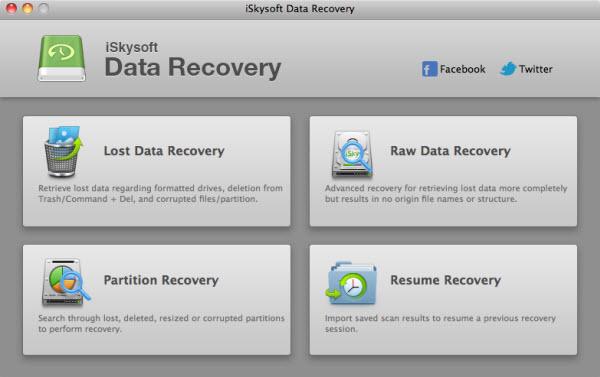 iSkysoft Data Recovery mac
