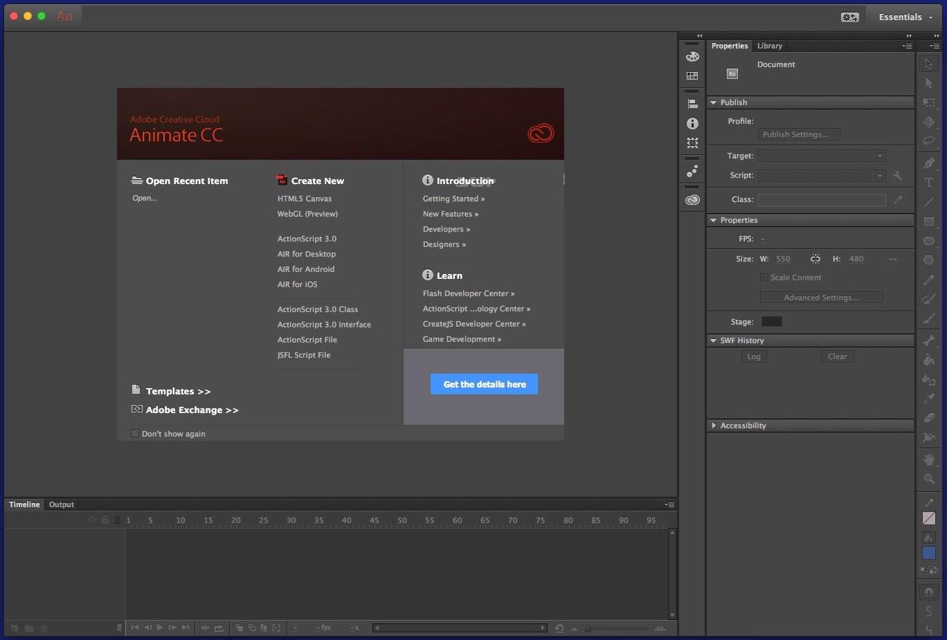 Adobe Animate CC 2019 v19.2.1 Crack FREE Download – Mac Software Download