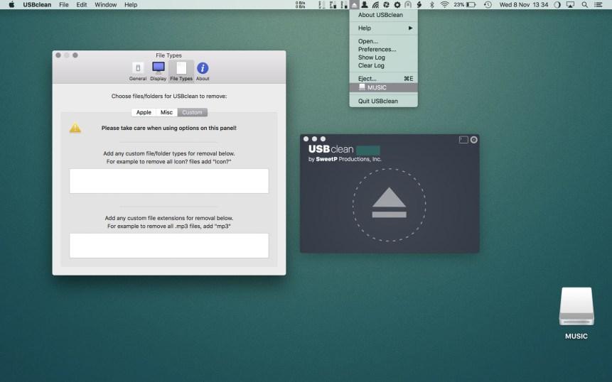 USBclean mac