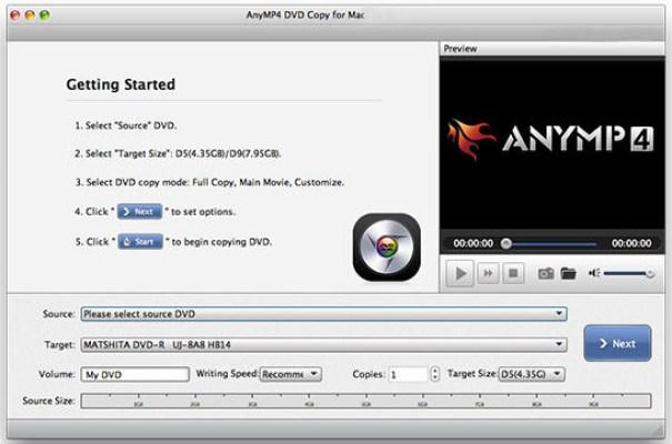 AnyMP4 DVD Copy Mac