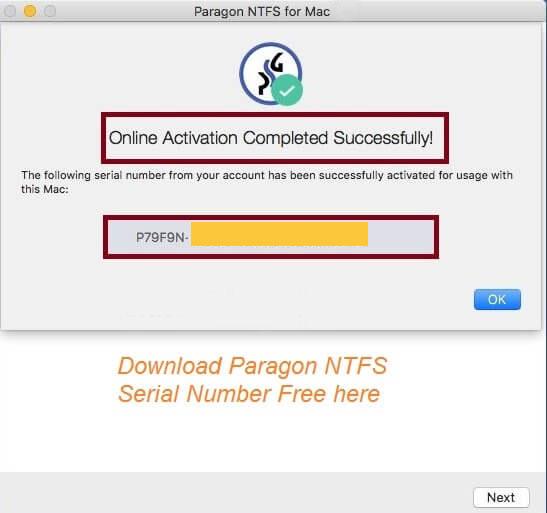 Paragon NTFS Mac 16