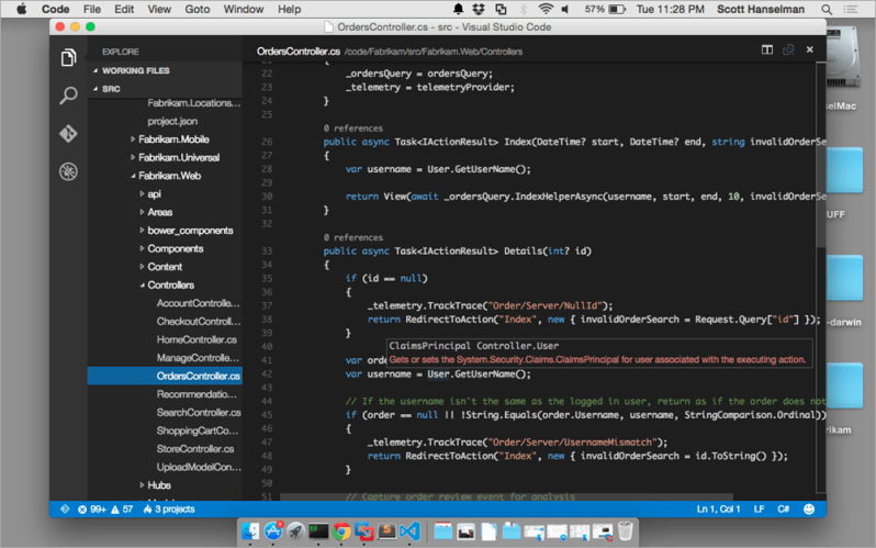 Visual Studio Code mac