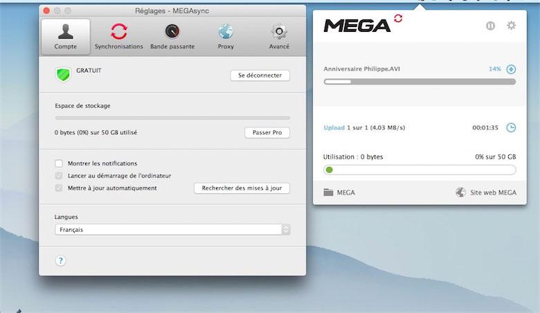 MEGAsync Mac