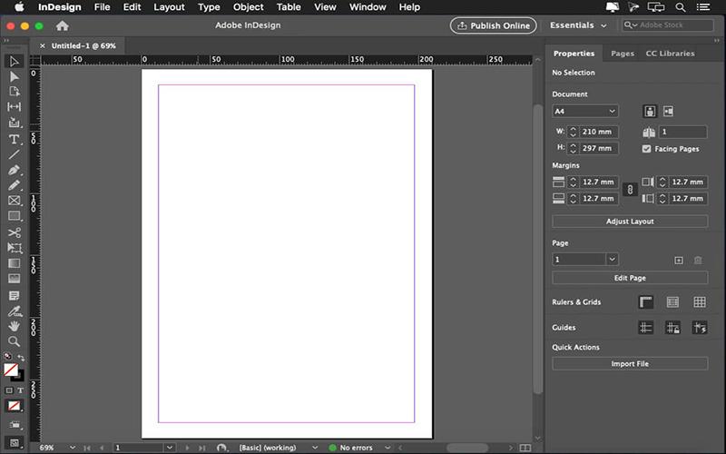 Adobe InDesign MacOS