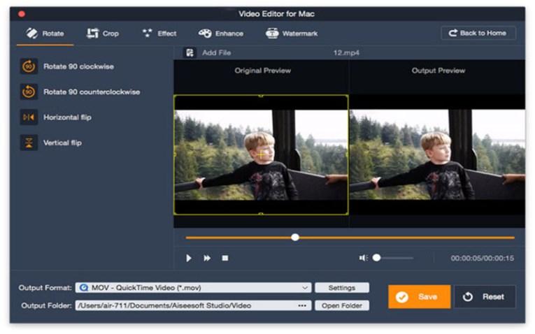 Aiseesoft Video Editor Mac