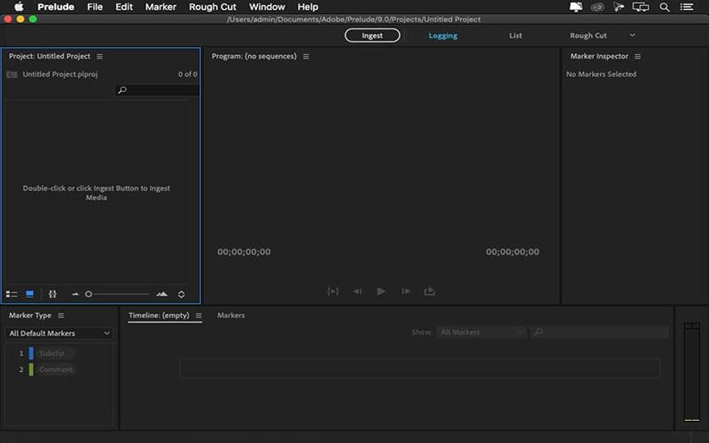 Adobe Prelude for mac