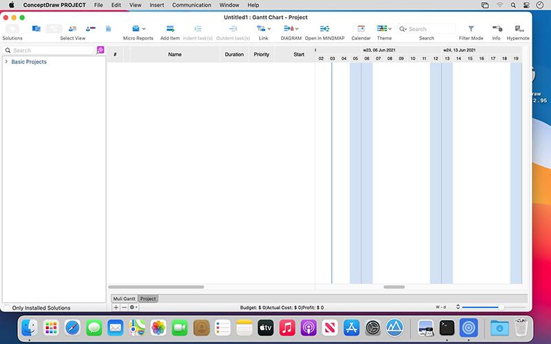ConceptDraw PROJECT Mac