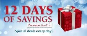 12 days of savings