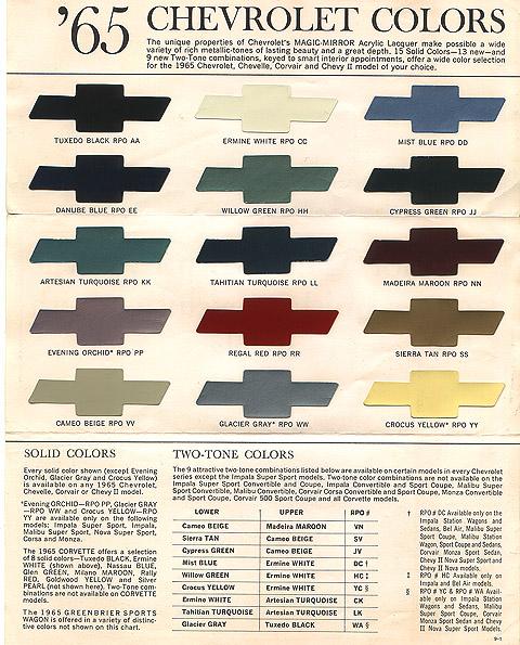 1987 Chevy Truck Paint Colors