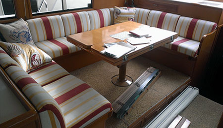Boats and Yacht Interior Upholstery and Canvas Tops