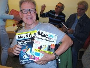 Der Abräumer: Jörg Knorre hat die beiden aktuellen Mac-Hefte gewonnen.