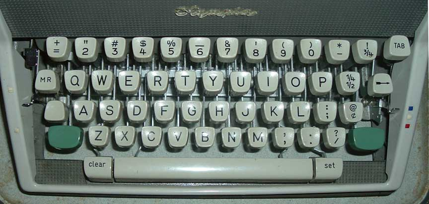 Znalezione obrazy dla zapytania typewriter keyboard