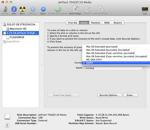 Format a drive using Disk Utility on a Mac