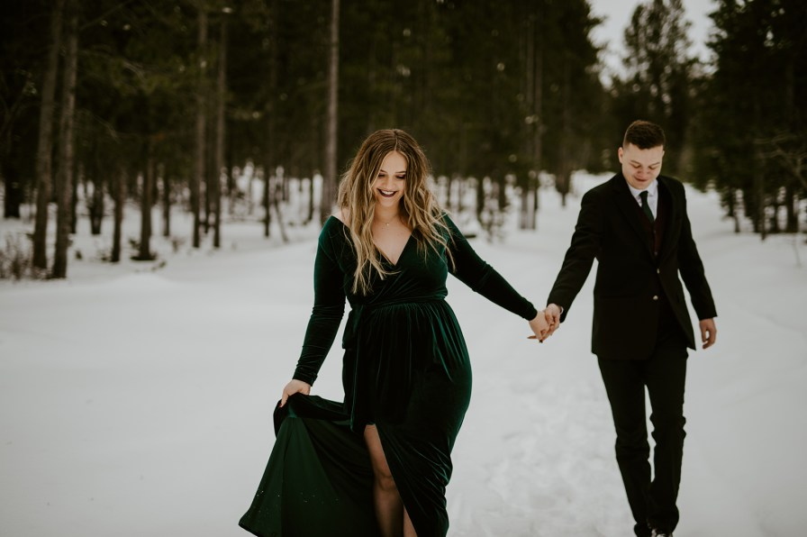 Montana winter engagement session