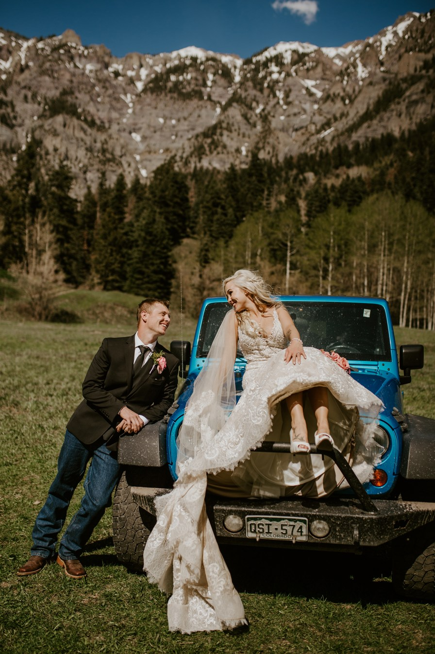 jeep wedding photos