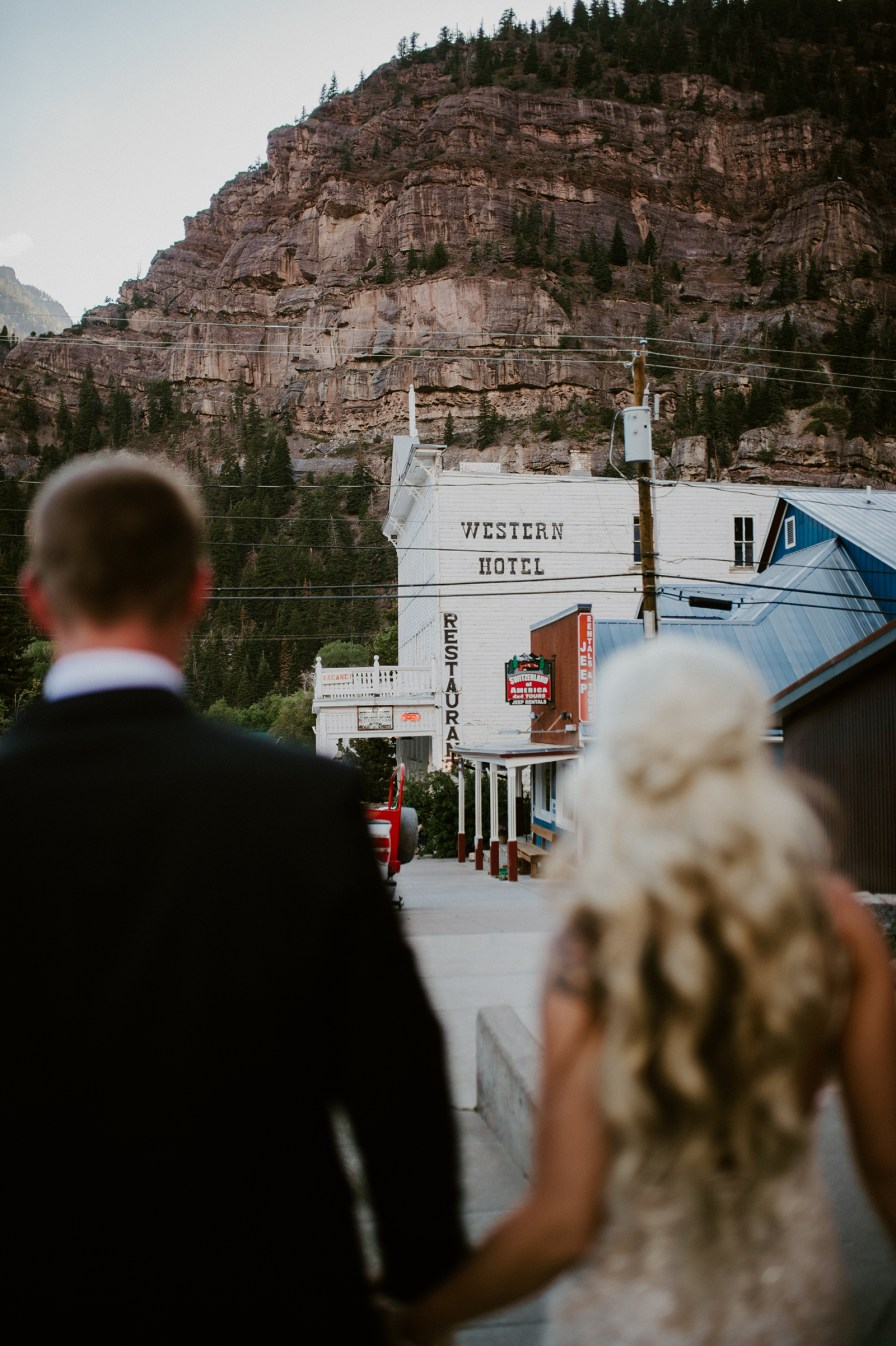 the historic western hotel Ouray Colorado