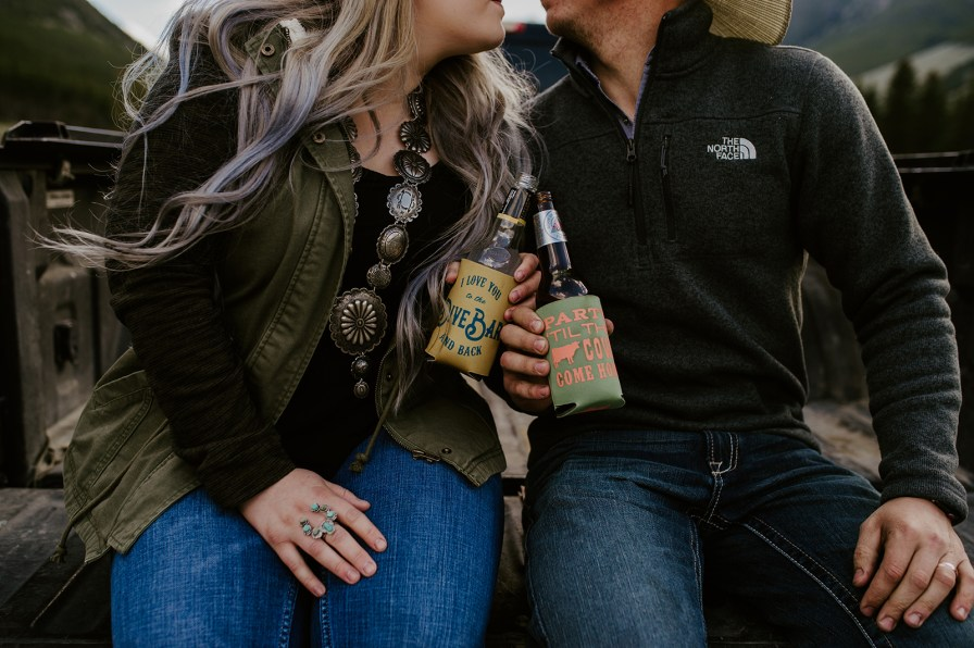 beer engagement photos