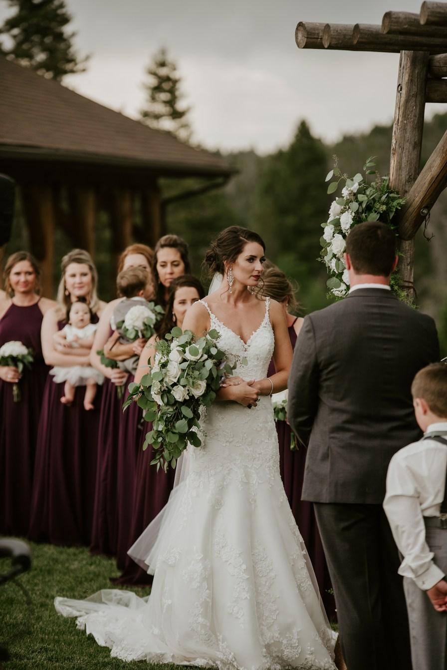 outdoor wedding at homestake lodge