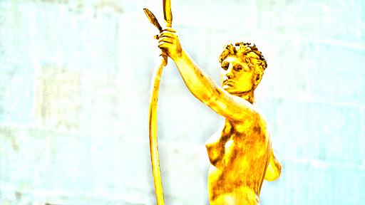 horoscope sagittaire statue femme metal arc astro madinlove