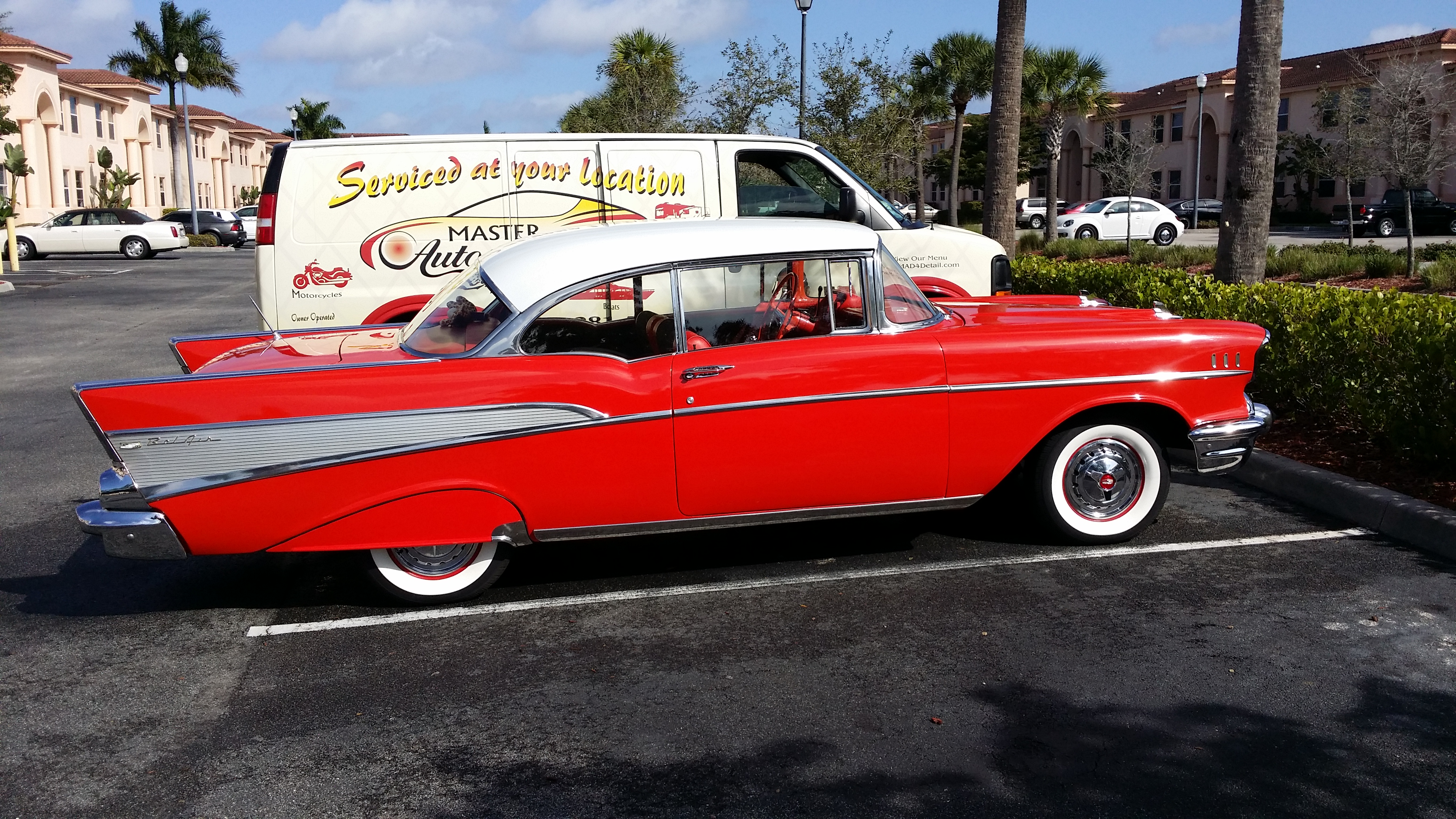 Old School Classic Chevy Cherry Red Mad4detail