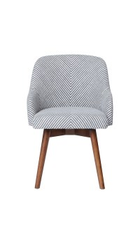 West Elm Saddle Office Chair, Painted Stripe
