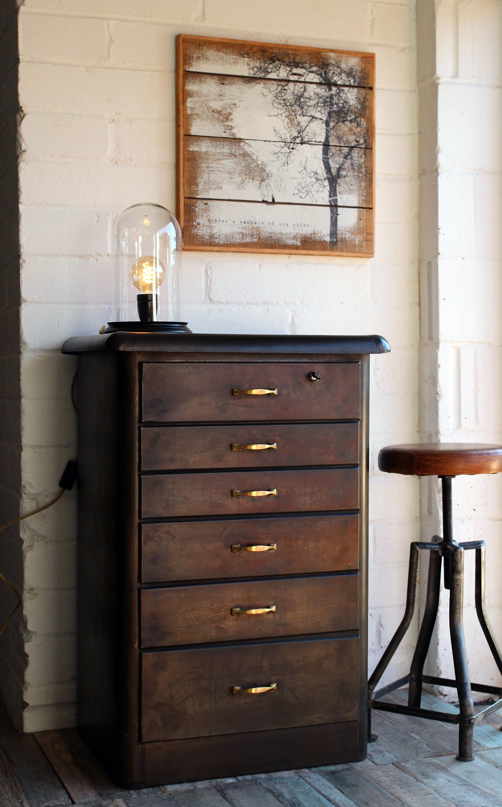 Objects of Design 249 Vintage Style Metal Chest of