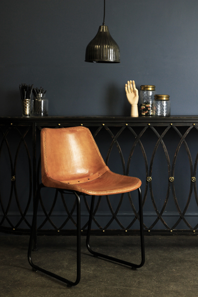 Objects Of Design 288 Industrial Leather Dining Chair Mad About The House