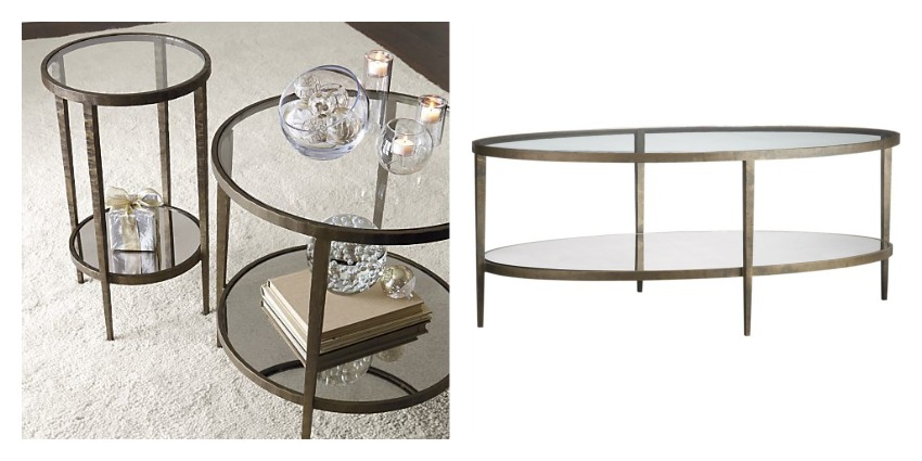 brass and glass coffee tables