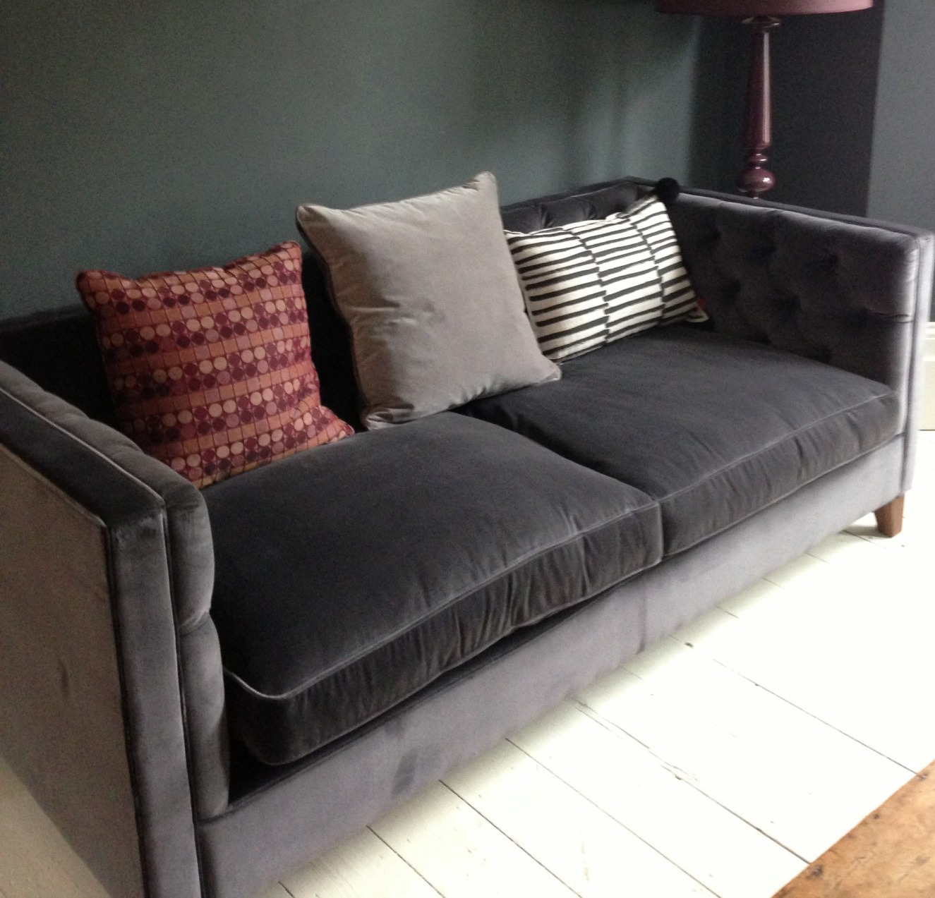 velvet sectional sofa cherry tables cheap grey