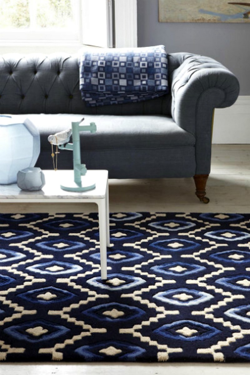 green curtains for living room beachy navy blue rugs and accessories - mad about the house