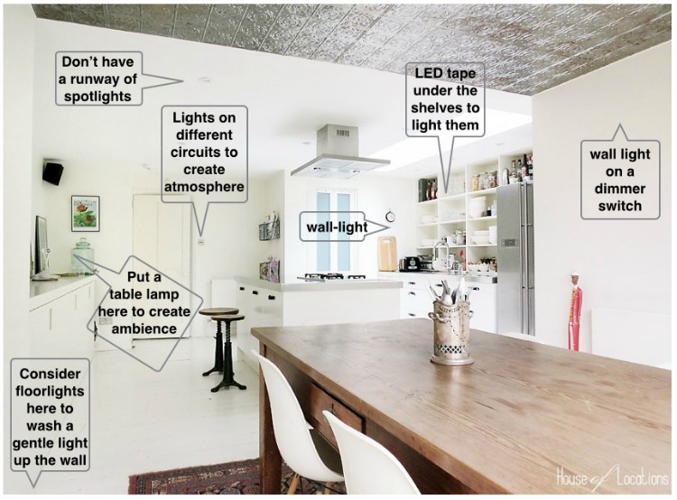 kitchen wall lights maple table how to get lighting right john cullen 001