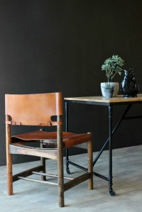 Wood and Leather Dining Chair - Mad About The House
