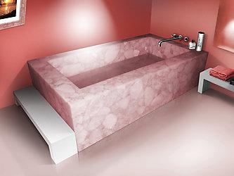 rose quartz bathtub