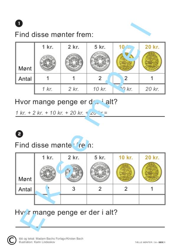 Addition med mønter