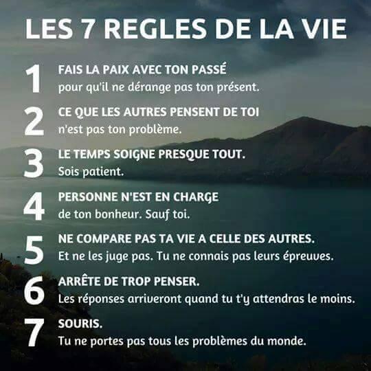 7 Règles de la vie