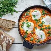 Shakshuka (Schakschuka) - Israelische Köstlichkeit