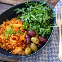 Cajun-Quinoa-Bowl mit Fenchel und Paprika